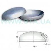 Заглушка оцинкованная стальная 48x3 мм ГОСТ 17379-01 фото