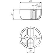 Полуопора мебельная H=38 фото