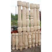 Столбы деревянные в ассортименте фото
