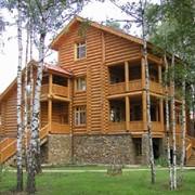 Оцилиндрованные деревянные дома фото
