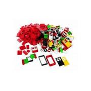 Окна, двери и черепица для крыши LEGO фото