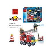 Конструктор Brick-Пожарная машина 129 дет. SingleBridgeFireEngines в кор.,C903 фото