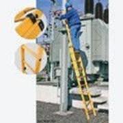 Диэлектрическая двухсекционная выдвижная лестница 2х6 ступеней из стекловолокна 817624 фото
