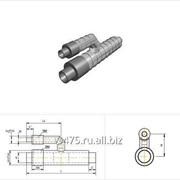Тройник параллельный стальной в оцинкованной трубе-оболочке с металлической заглушкой изоляции d1=1020 мм, D1=1175; 1200 мм, L=2100 мм фото