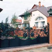Образцы кованых ворот фото