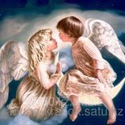 Картина стразами Ангелочки на небесах 40*50 фото