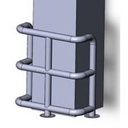 Колесоотбойник угловой для колонн КМ-950/76х3 фото
