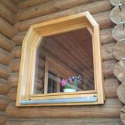 Деревянное евроокно трапециевидной формы фото