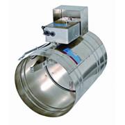 Клапан противопожарный огнезадерживающий круглого сечения КЛОП-1 фото