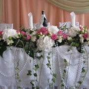 Оформление свадебных столов фото