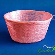 Корзина Диффенбахия розовая из сизаля 8*17 фото