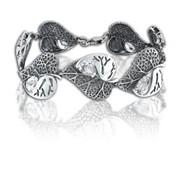 Браслеты серебряные 500003 ЛИСТ фото