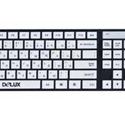 Клавиатура Delux, ультра-тонкая, USB, Анг/Рус, стильный дизайн, Клавиатуры фото