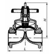 Клапан мембранный футерованный 15ч76п Ду100 Ру6,3 фото