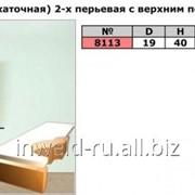 Код товара: 8113 (D19 H40) 2х-перьевая Фреза кромочная прямая (обкаточная) с верхним подшипником фото