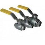 Кран шаровой газовый фланцевый ГШК (КШ) Китай Ру25 t -40+60 C, Ду32 фото