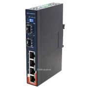 Коммутатор промышленный DIN-Rail Gigabit Ethernet IGS-1042GPA фото