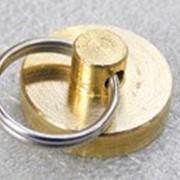 Металлическая латунная печать, d30 мм фото
