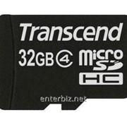 Карта памяти MicroSDHC 32GB Class 4 Transcend (TS32GUSDC4)