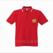 Рубашка поло Alfa Romeo красная с полоской фото