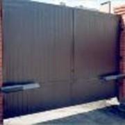 Ворота промышленные распашные фото