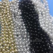 Бусины акриловые имитация жемчуга на нитке 12 1уп - 6 нитей фото