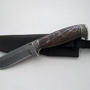 Нож Клык (торцевой дамаск) фото