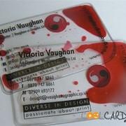 Прозрачные визитки из пластика фото