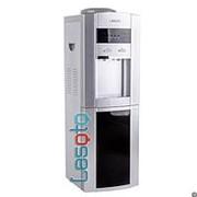 Напольный кулер с холодильником LESOTO 999 L-B silver-black фото