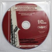 CD диск в прозрачном полипропиленовом конверте фото