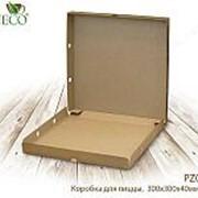 Коробка для пиццы, 300*300*40 мм, крафт (50 шт. в коробке) - Десерты фото