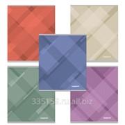 Тетрадь 48 л. Полиграфика, клетка, обложка мелованный картон, Soft Line (Абстракция) фото