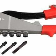 Заклепочник ЗУБР ЭКСПЕРТ литой усиленный, для вытяжных и резьбовых заклепок, 2,4-3,2-4-4,8мм. Артикул: 31196 фото