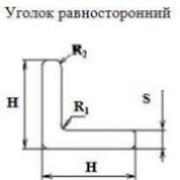 Уголок равносторонний шифр профиля S07/0016 H, мм 40 S, мм 5 фото