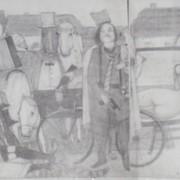 """Эскиз к произведению """"Особенная сторона гражданской войны"""" Виктор Гонтаров. 35х105, бумага, карандаш. фото"""