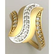 Золотое кольцо 585 пробы с камнями фото