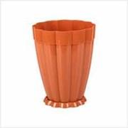 Горшок цв. Фантастика 3л с под. (коричневый) фото