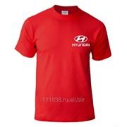 Майка красная Hyundai вышивка белая фото