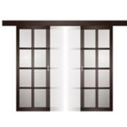 Деревянные раздвижные двери из массива фото
