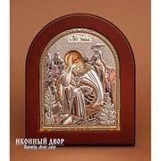 Пророк Илия - Икона Из Греции С Серебром И Позолотой Код товара: ОGOLD фото