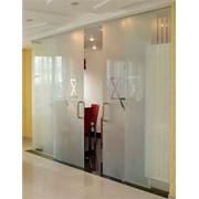 Двери стеклянные раздвижные (откатные) фото