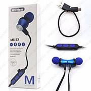 Беспроводные наушники MS-T2 (BLUETOOTH) BLUE фото