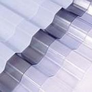 ПВХ профилированный лист С8; ш:1214мм д:3000мм S:3.64м2 т:0.9мм прозрачный фото
