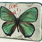 "Чехол для планшета и нетбука 10"" ""Зеленая бабочка"" фото"