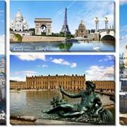 Модульная картина Париж, Неизвестен фото
