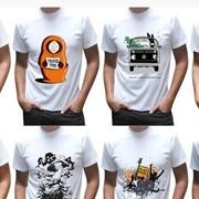 Нанесение изображения на футболки Шымкент фото