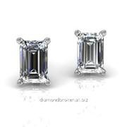 Серьги с бриллиантами E32245-3 фото