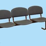 Блок стульев 3-х мест. фотография