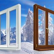 Цветное окно пвх 1300*1400 58 мм фото