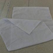 Вафельное полотенце отбеленное, ширина 45х100 см, плотность 120 г\м² фото